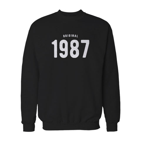 30th Birthday For Him And Her Original 1987 Gift Ideas Sweatshirt