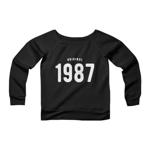 30th Birthday For Him And Her Original 1987 Gift Ideas CPY Womans Wide Neck Sweatshirt Sweater