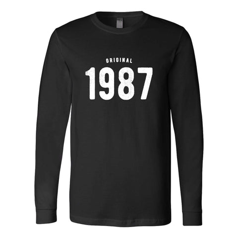 30th Birthday For Him And Her Original 1987 Gift Ideas Long Sleeve T-Shirt