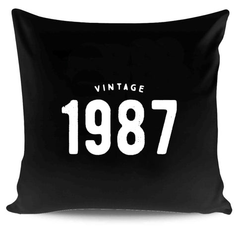 30th Birthday Gift For Her Vintage 1987 Pillow Case Cover