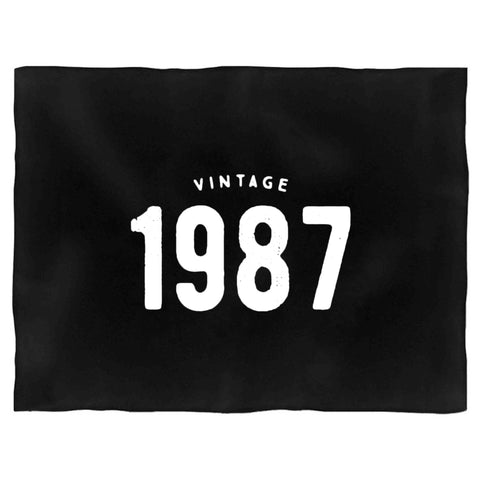 30th Birthday Gift For Her Vintage 1987 Blanket