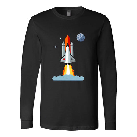 321 Blast Off Space Rocket Shuttle Outh And Toddler Long Sleeve T-Shirt