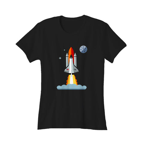 321 Blast Off Space Rocket Shuttle Outh And Toddler Women's T-Shirt