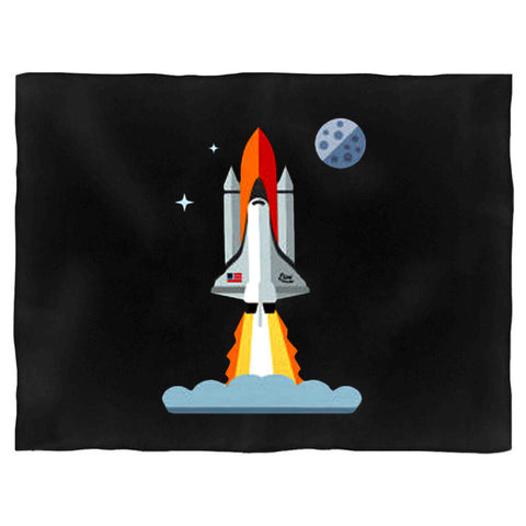 321 Blast Off Space Rocket Shuttle Outh And Toddler Blanket