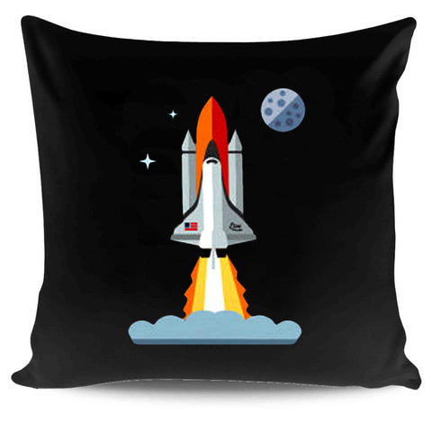 321 Blast Off Space Rocket Shuttle Outh And Toddler Pillow Case Cover