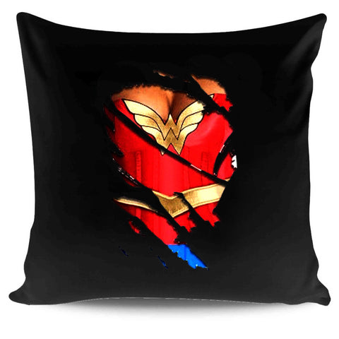 3d Funny Fake Naked Wonder Woman Classic Hero Pillow Case Cover