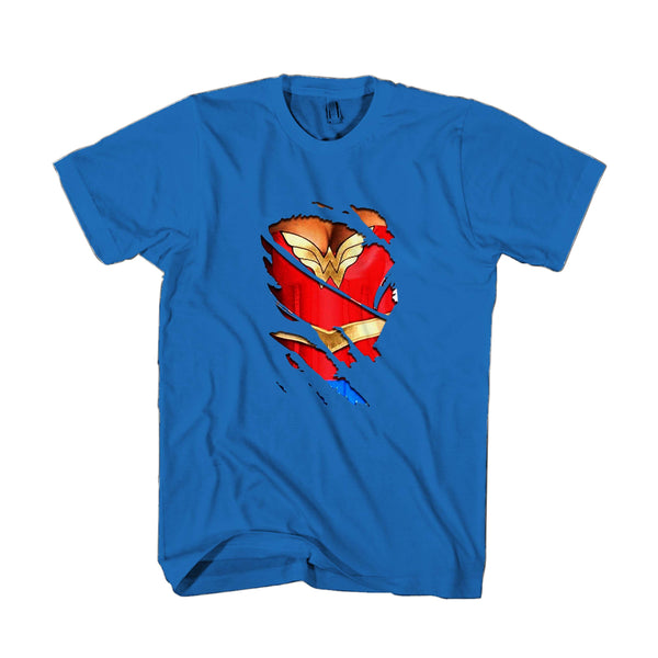 3d Funny Fake Naked Wonder Woman Classic Hero Man's T-Shirt