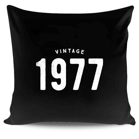 40th Birthday Gifts Ideas Vintage 1977 Graphic Pillow Case Cover