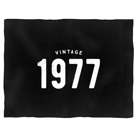 40th Birthday Gifts Ideas Vintage 1977 Graphic Blanket