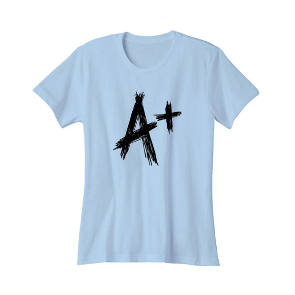 A+ For Her Gift Idea Letter Graphic Tee Humor Birthday Women's T-Shirt