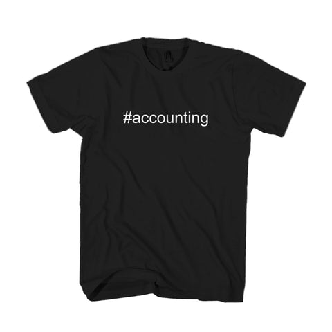 Accounting Hashtag Seafood Anchovies Love Man's T-Shirt