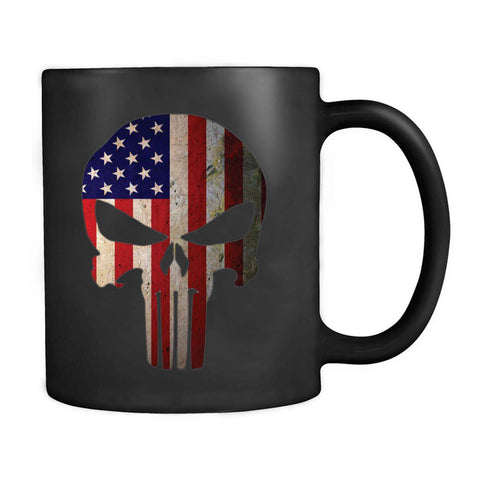 American Flag Punisher Skull Vintage Usa Cool Mug