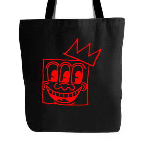 Art Keith Haring 3 Eyes Basquiat Crown Mashup Fcuk Yeah Art Tote Bag