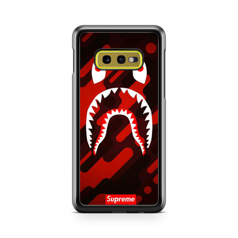 Bape Supreme Digital Camo Red Samsung Galaxy S10 Case