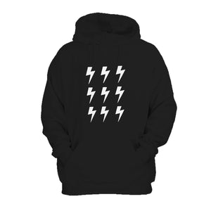 Boltz Girl Boy Monochrome Lightening Bolts Hoodie