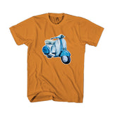 Bombardier Blue Scooter Vintage Retro Distressed San Antonio Texas Man's T-Shirt