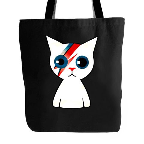 Bowie Kitty Cat David Bowie Ziggy Stardust Tote Bag