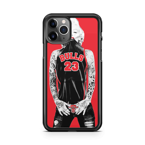 Chicago Bulls Jersey Marilyn Monroe iPhone 11 Pro Max Case