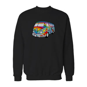Colorful Vw Hippie Bus Volkswagen Hippie Sweatshirt