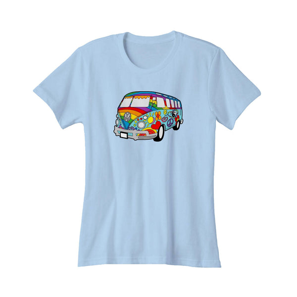 Colorful Vw Hippie Bus Volkswagen Hippie Women's T-Shirt