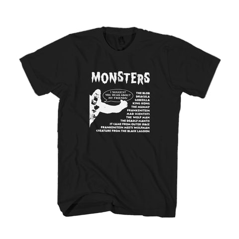 Crestwood Universal Monsters Squad House 80s Books King Kong Dracula Man's T-Shirt