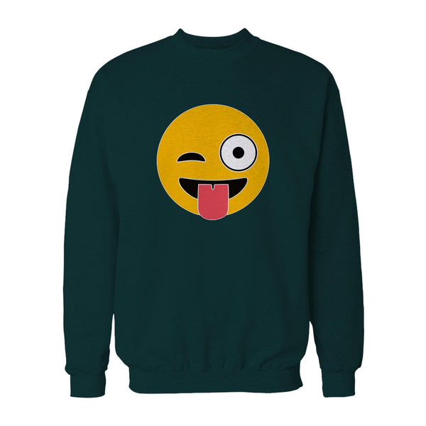 Cuttable Emoji Svg Crazy Eyes And Tongue Emoticon Funny Winking Smiley Face Vector Cut File For Wood Sweatshirt