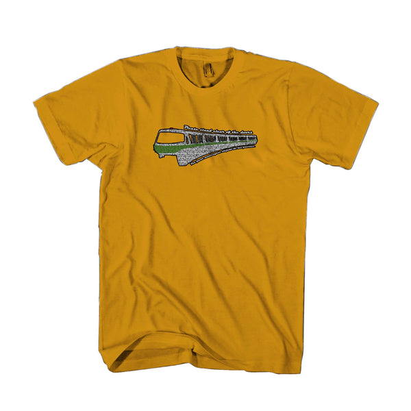 Disney Monorail Please Stand Clear Of The Doors Man's T-Shirt