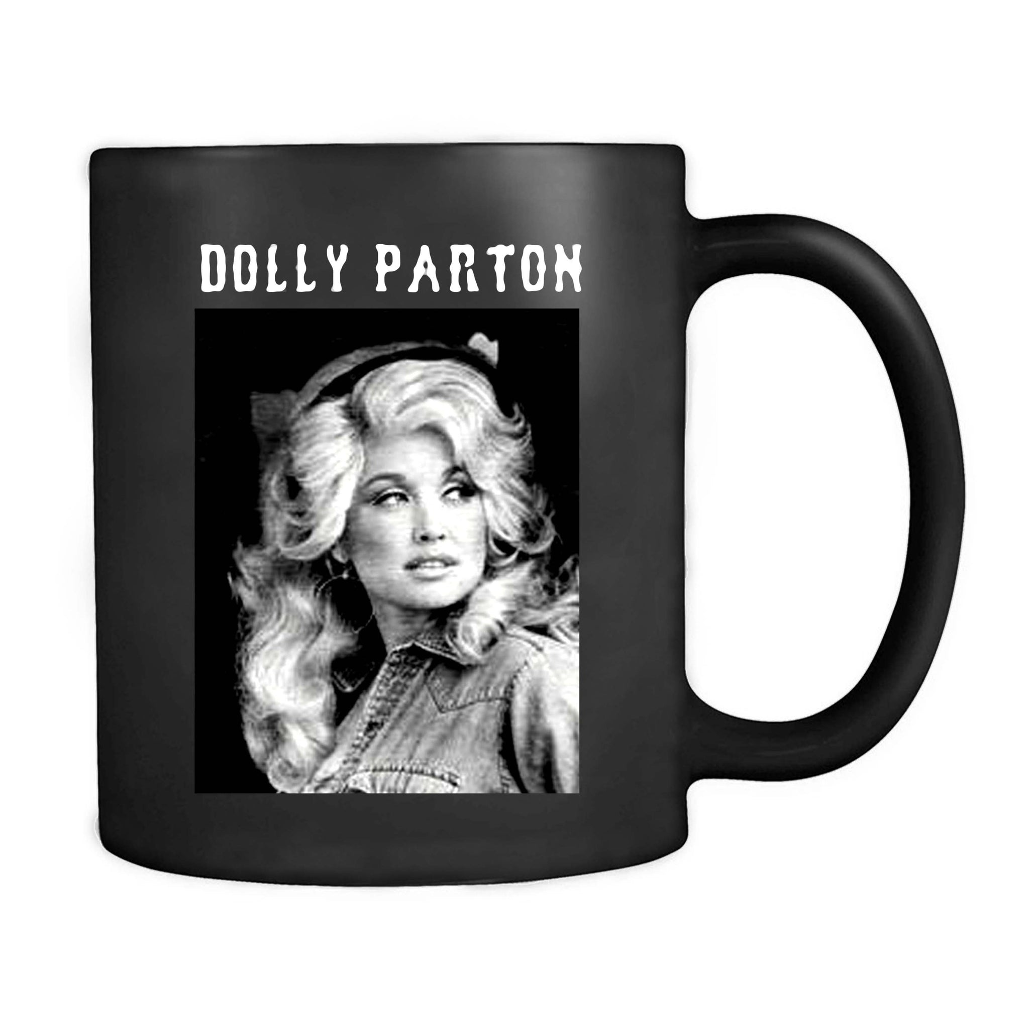 Dolly Parton Band Vintage Look Rretro Cult Feminism Glamour Country Mug