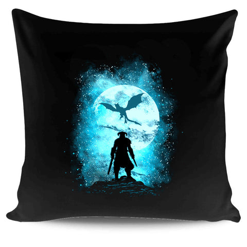 Dragon Slayer Skyrim Inspired Popular Culture Gaming Video Games Fusrodah Medieval Moon Nature Colourful Fantasy Oblivion The Elder Scrolls V Pillow Case Cover