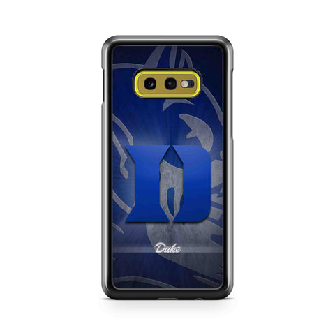 Duke Logo Blue Devils College Samsung Galaxy S10 Case