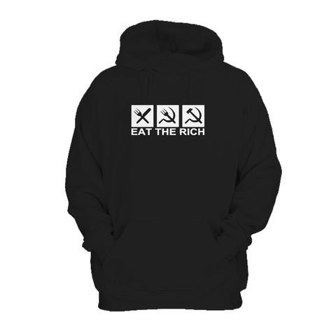 Eat The Rich Full Communism Anti Capitalist AntiGreed Hoodie