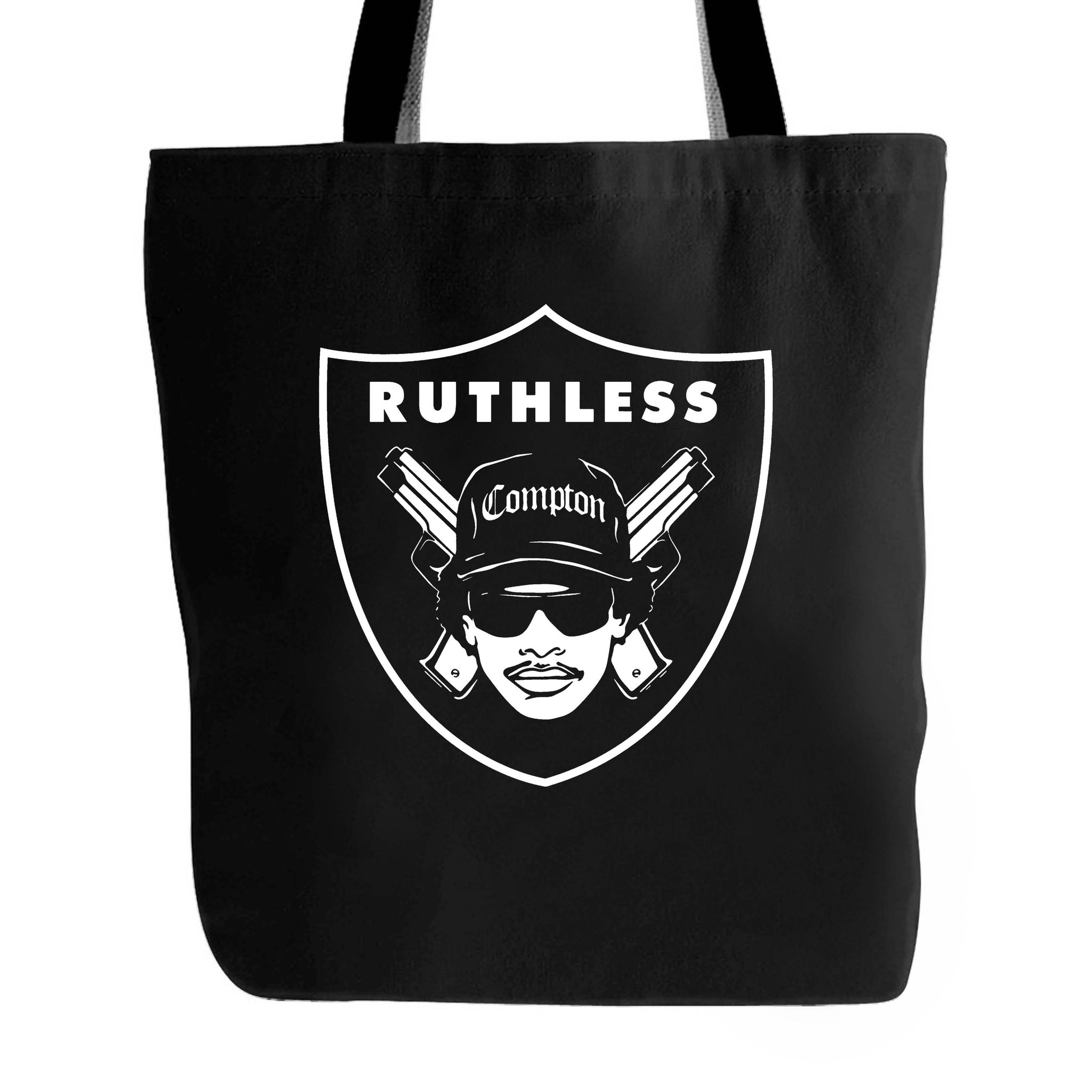 Eazy E Nwa Raiders Logo Ruthless Tote Bag