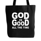 Fact Goods Mens God Is Good All The Time Tote Bag