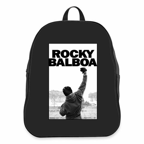 Famous Movie Slogan Rocky Balboa Power Motivation Gym Rb Design CPY School Backpacks Bag