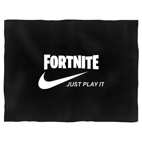 Fortnite Just Play It Run Dmc Logo Blanket