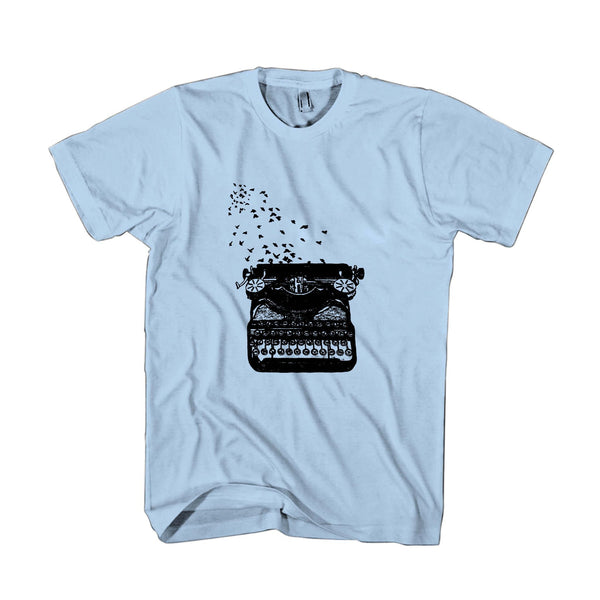 Freedom Of Speech Vintage Typewriter Birds Writer's Gift Man's T-Shirt