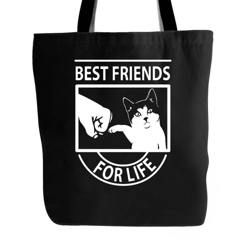 Funny Cat Best Friends For Life Cute Cat Lover Gift Tote Bag