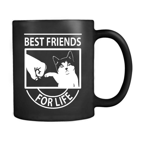 Funny Cat Best Friends For Life Cute Cat Lover Gift Mug