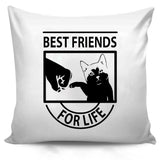 Funny Cat Best Friends For Life Cute Cat Lover Gift Pillow Case Cover