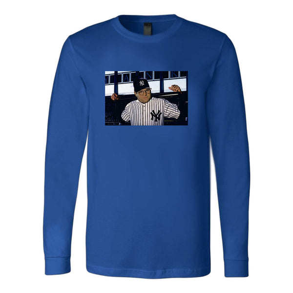 George Costanza Baseball Funny Larry David Seinfeld Long Sleeve T-Shirt