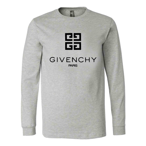 Givenchy Paris Logo Long Sleeve T-Shirt