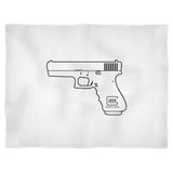 Glock Perfection Pro Pistol Gun Engineering American Usa Shooting Range Army Tea Party Blanket