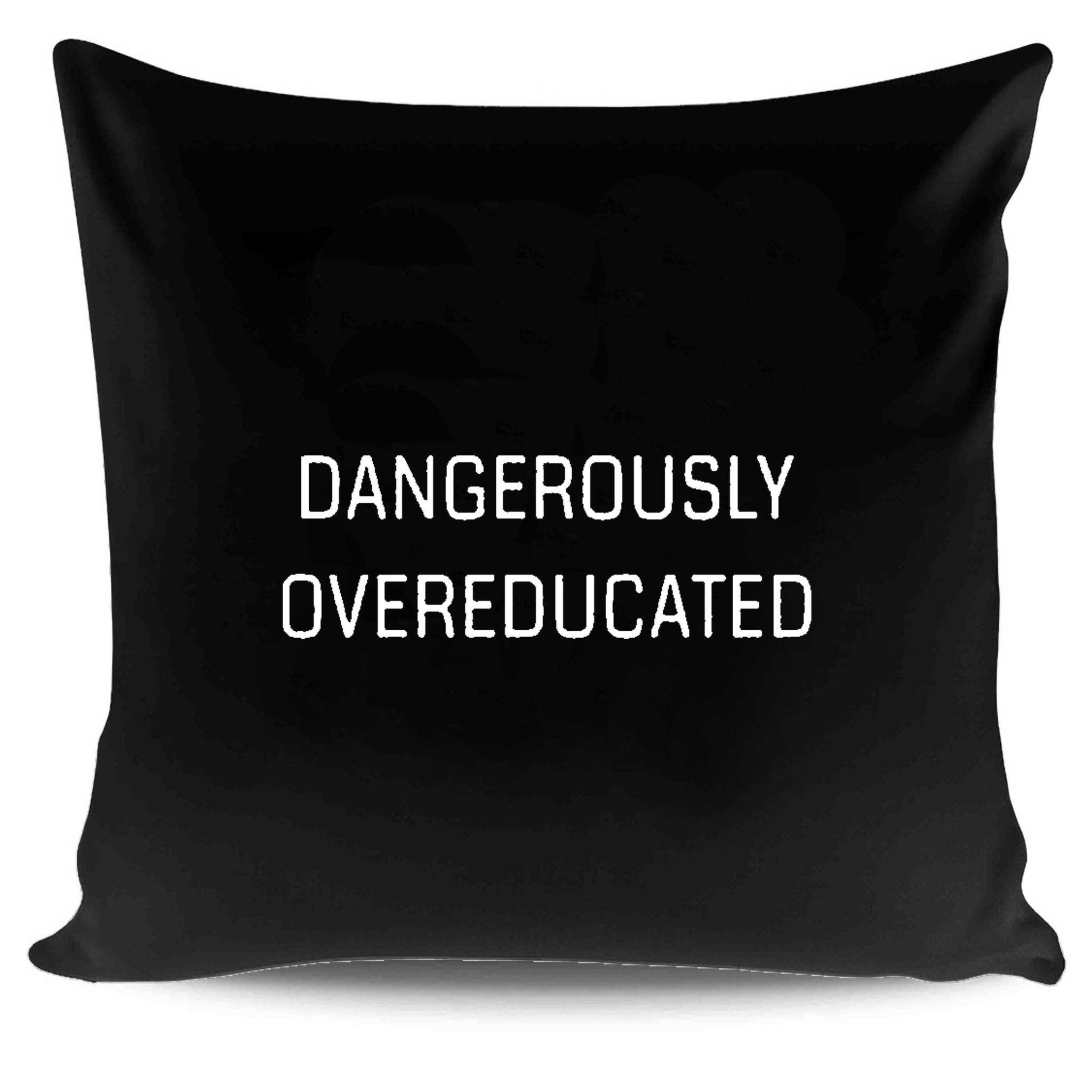Graduate Student Gifts Dangerously Overeducated Pillow Case Cover