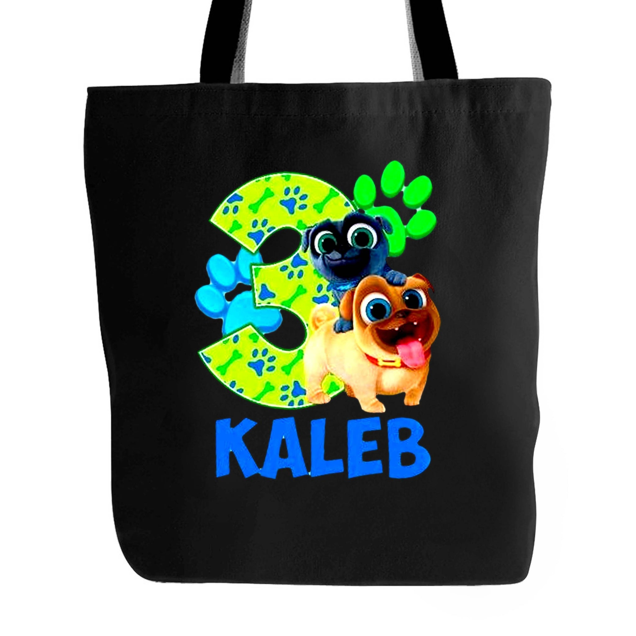 Grand Opening Puppy Dog Pals Birthday Rolly Bingo Tote Bag