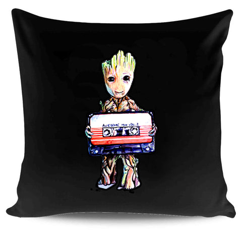 Guardians Of The Galaxy Baby Groot Original Art Movie Marvel Comic Vol 2 Awesome Mix Pillow Case Cover