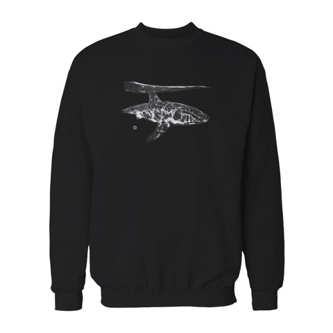 Head Above Shark Water Animal Great White Shark Reef Swimming Sea Ocean Graphic Sweatshirt