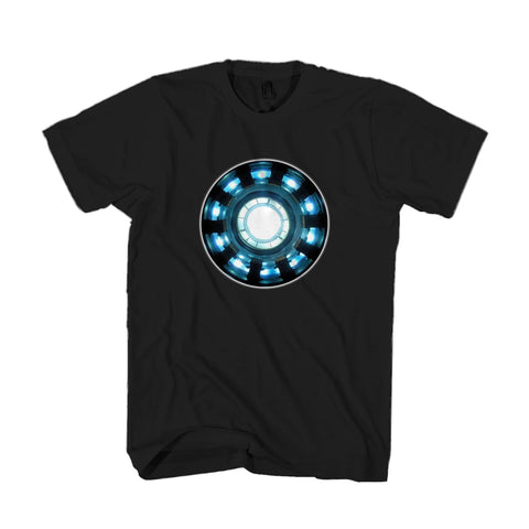 Iron Man Tony Stark Chest Light Glow In The Dark Avengers Gift Man's T-Shirt