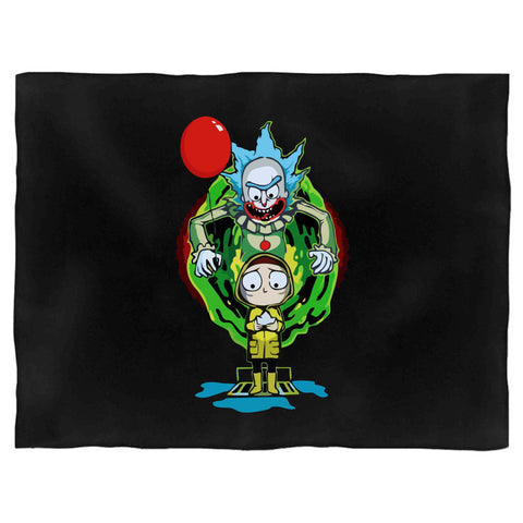 It And Morty Pennywise Rick And Morty Combo Blanket