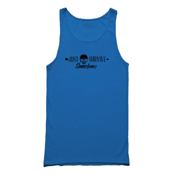 Just Survive Somehow Survival People Tank Top