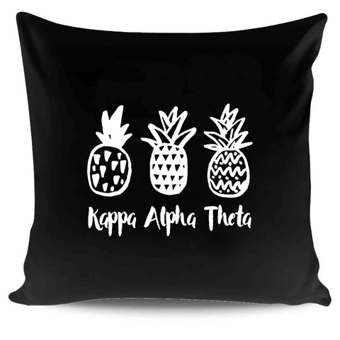 Kao Kappa Alpha Theta Pineapple Trio Sorority College Pillow Case Cover